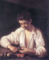 Caravaggio - A Boy Peeling Fruit (c.1592-93) The Royal Collection © 2007, Her Majesty Queen Elizabeth II