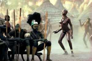 Leni Riefenstahl - Nuba Girls Dancing: Warriors Feign Indifference