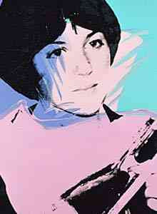 Andy Warhol - Portrait of Dorothy Hamill (Richard Weisman collection)