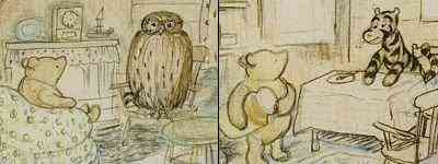 E.H.Shephard - Pooh and Owl and Pooh and Tigger