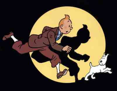 Hergé - Tintin and Snowy in the Spotlight