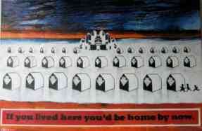 Stanley Donwood - Poster for If You Lived Here You'd Be Home By Now (2007)