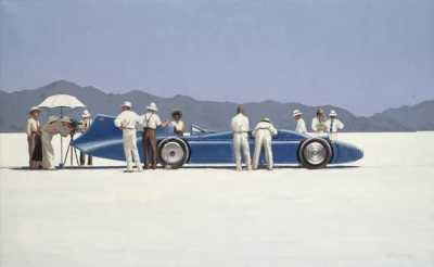 Jack Vettriano - Bluebird at Bonneville © Sotheby's Images