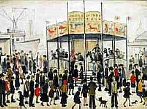 L.S. Lowry - A Fairground (1938)