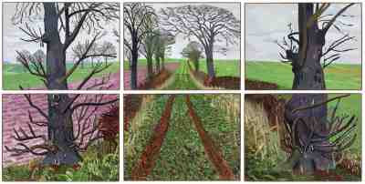 David Hockney - A Closer Winter Tunnel (2006)
