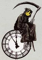 Banksy - Smiley Reaper (detail)