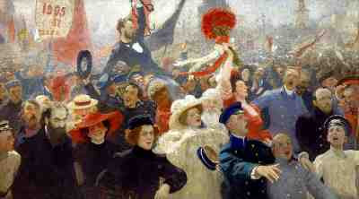 Ilya Repin - Manifesto of 17 October 1905 (1907-1911)