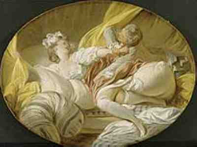 Fragonard - The Beautiful Servant (subtitled 'Pointless Resistance')