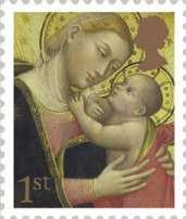 Lippo di Dalmasio - Madonna and Child (1st Class Stamp 2007)