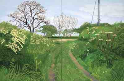 David Hockney - Woldgate Lane to Burton Agnes (2007)