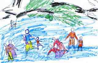 A Child's Drawing of Cyclone Nargis (2008)