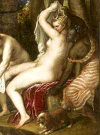 Titian - Diana and Actaeon (1556-9) detail