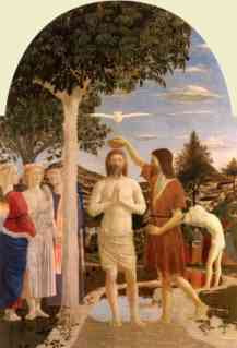 Piero della Francesca - The Baptism of Christ (ca 1450)