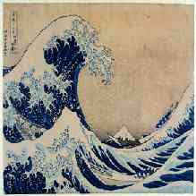 Katsushika Hokusai - Thirty-six Views of Mount Fuji: The Great Wave off the Coast of Kanagawa