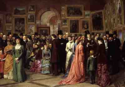 W.P. Frith RA - Private View at the Royal Academy 1881 (1883)