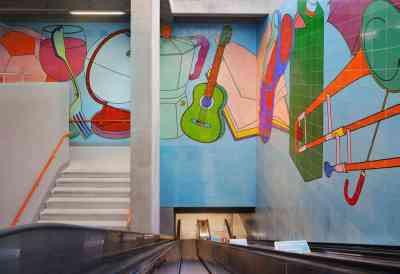 Michael Craig-Martin - DLR Woolwich Arsenal Station Mosaics (2009)