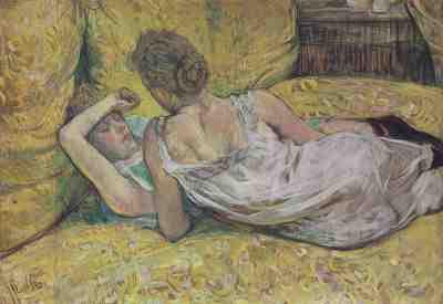 Henri de Toulouse-Lautrec - L'abandon (Les deux amies) 1895