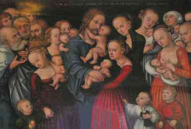 Lucas Cranach the Elder - Suffer the Little Children to Come unto Me