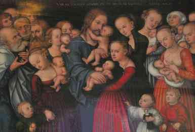 Lucas Cranach the Elder - Suffer the Little Children to Come unto Me
