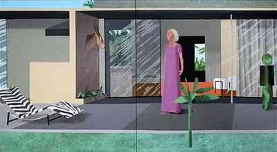 David Hockney - Beverly Hills Housewife (1966-67) showing Betty Freeman