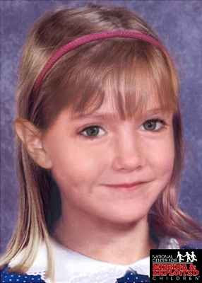 Computer generated 'age progression' image of Madeleine McCann aged 6 (2009)