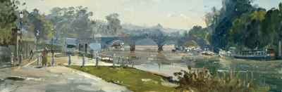 Peter Brown NEAC - Autumn Morning Mist, Richmond Bridge (Sold)