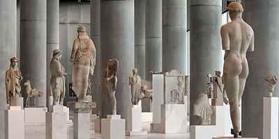 Acropolis Museum Interior with Kritios Boy (c.480 BC)