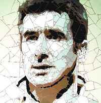 Ed Chapman - Mosaic Portrait of Eric Cantona (2009)