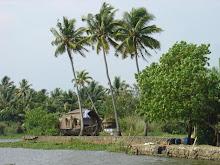 Camino de agua hacia Trivandrum
