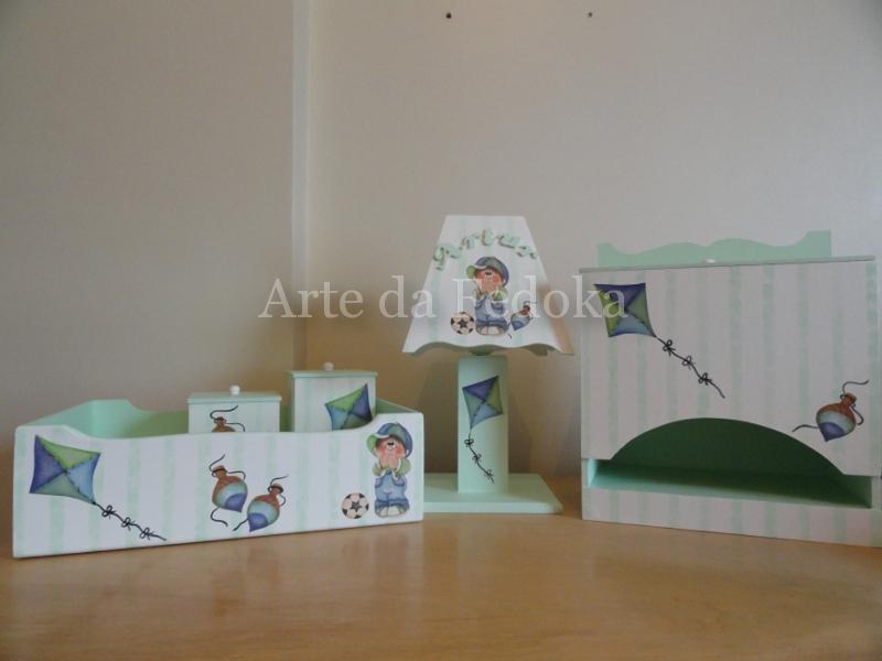 Arte da Fedoka Kit Bebê Menino e Pipa