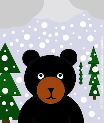 Snowing on Bear