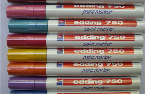 canned brick edding paint markers. Black Bedroom Furniture Sets. Home Design Ideas