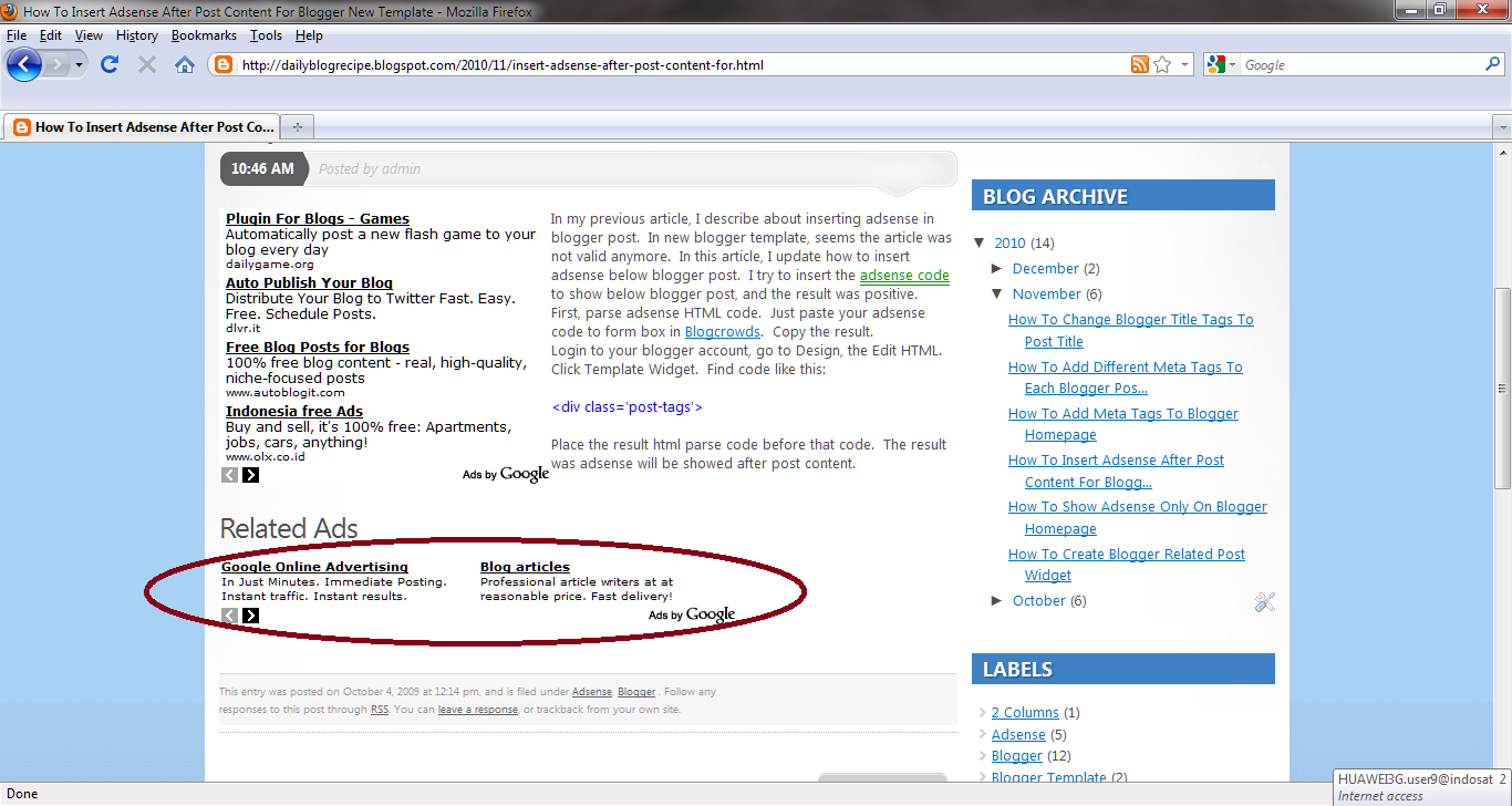 How to insert adsense after post content for blogger new template pronofoot35fo Choice Image