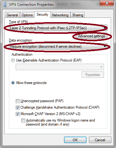 L2TP Windows Client Encryption