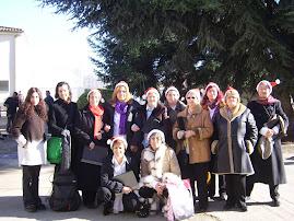 coro de familias saludo de navidad en centros ocupacionales Salamanca