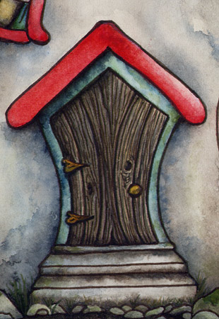 Fearneve the fairy house painting is finished for Painted fairy doors