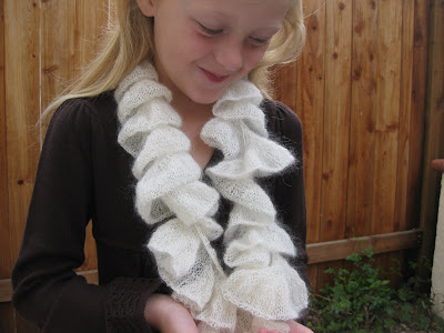 Free Knitting Pattern 70336AD Lace Scarf : Lion Brand Yarn