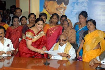 Kushboo DMK Joining Photos