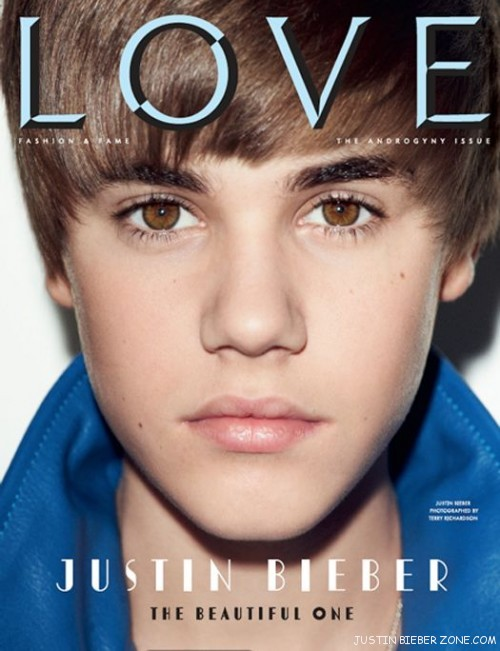 justin bieber love magazine cover. With his cute looks and love