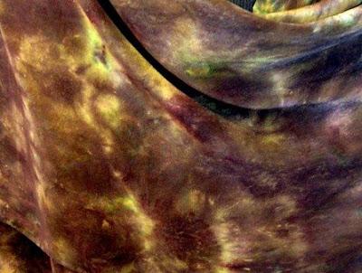 Tortoise Shell silk crepe de chine scarf