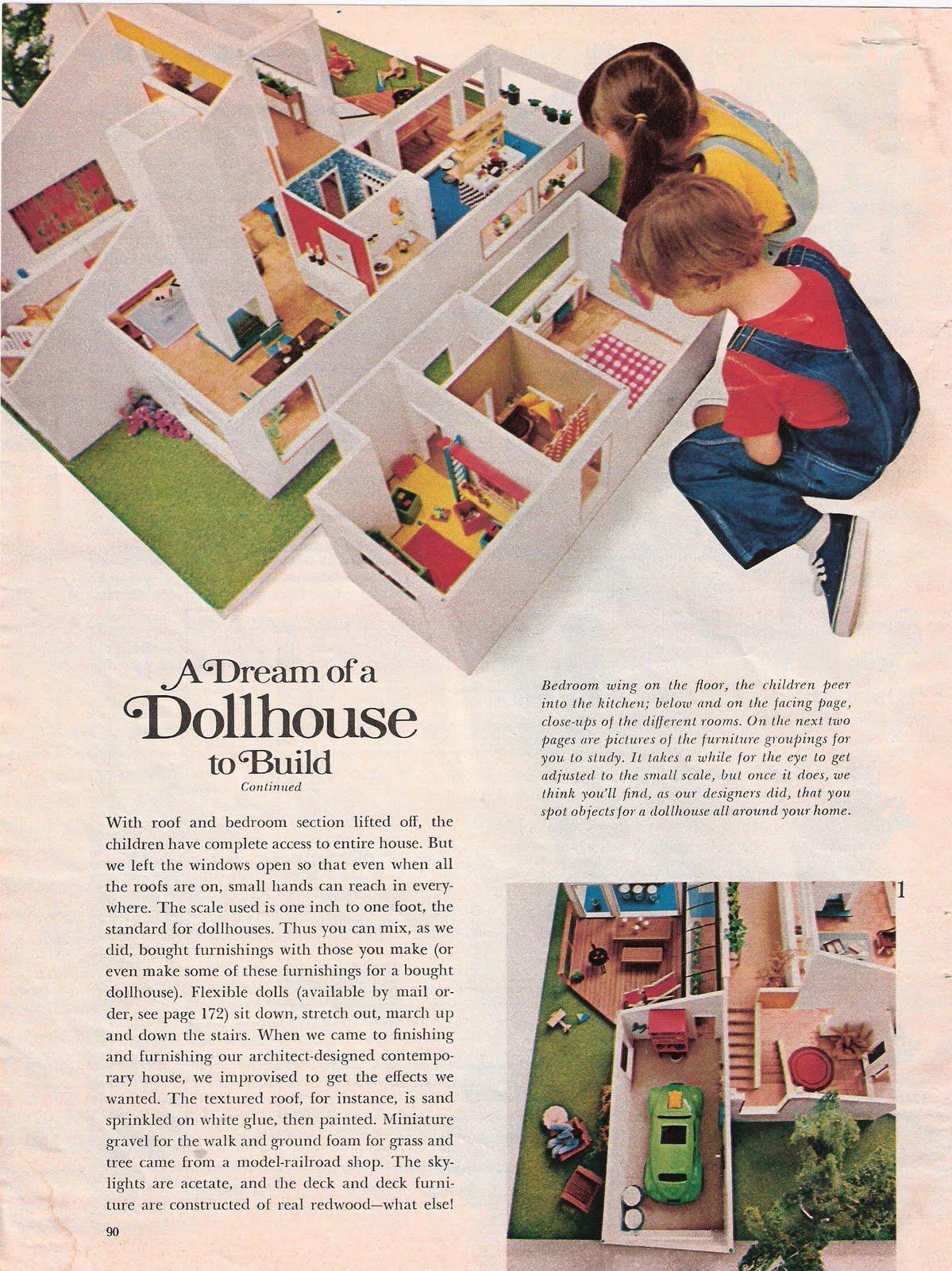 Vintage Woman S Day Dollhouse Plans General Mini Talk The