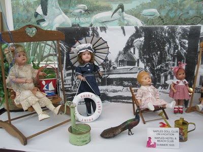 Dolls on vacation at the Naples Hotel and Beach Club in 1935