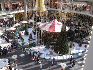 Galleria in Birmingham at Christmas