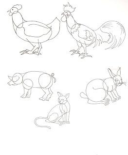 Kita akan menggambar bentuk dasar hewan tahap awalnya bagi pemula