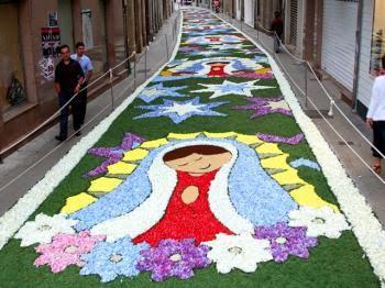 Ponto de encontro corpus christi em ponteareas for Dibujos para alfombras