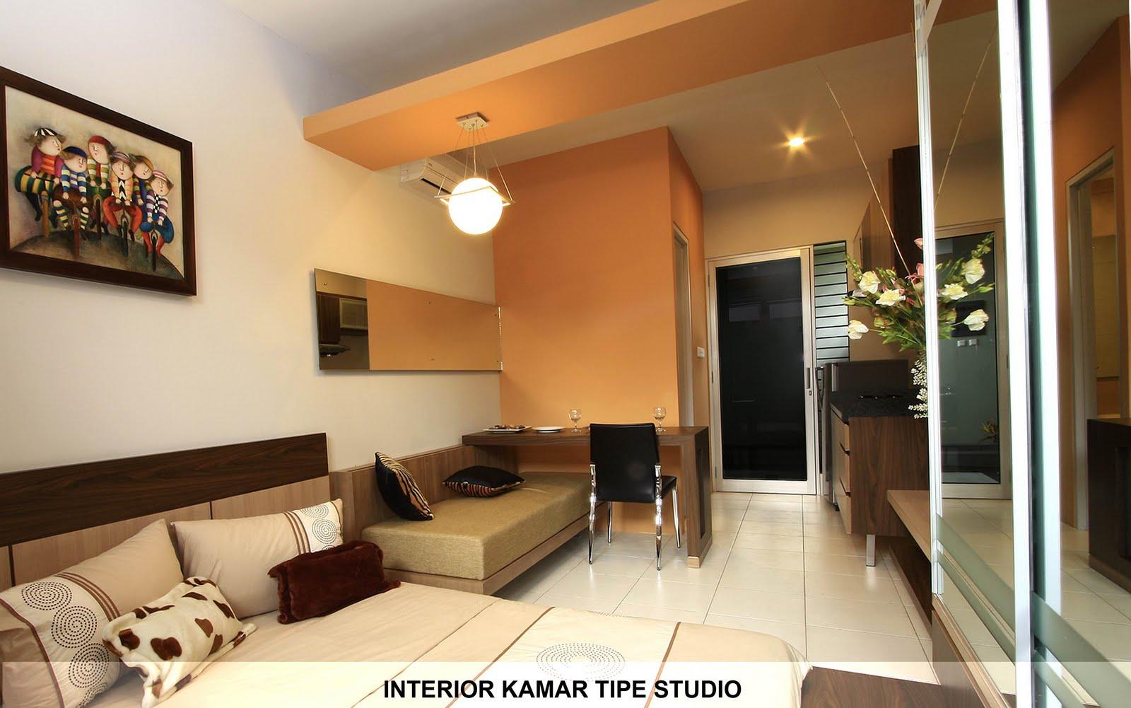Desain Interior Apartemen Tipe Studio