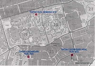 Peta Lokasi Berhubung Kuil Seksyen 19