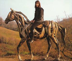 Heather jansch produz obras de arte impressionantes com restos de