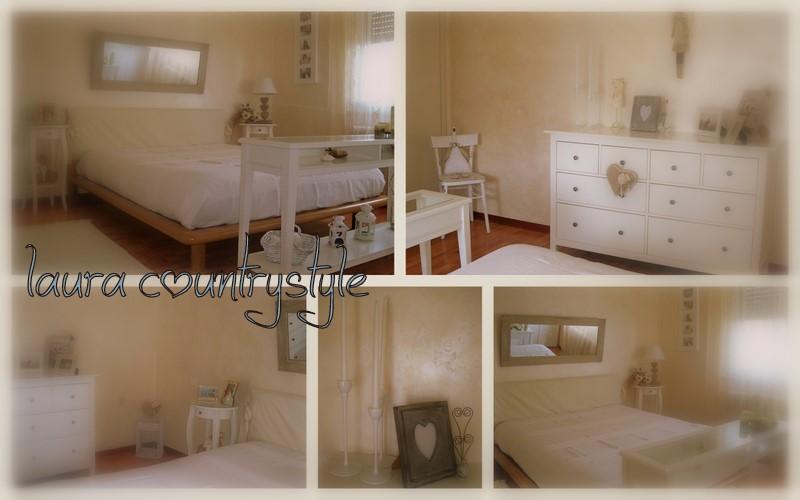 Camera da letto bianca e azzurra - Camera da letto country ...