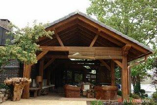 Proyectar la pergola - Estructura tejado madera ...
